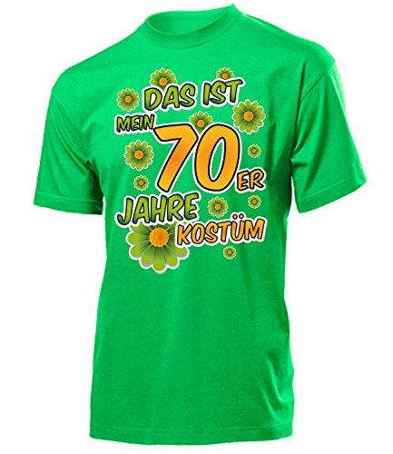 70er Jahre Kostüm Herren T Shirt Motto Schlager Party Karneval Fasching Verkleidung Schlagerkleidung Mottoparty Paar Deko Disco Weste Hut