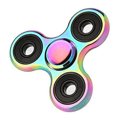 Fidget Spinner Ultra Durable Pure Cobre triángulo de juguete Reductor de estrés Anti Ansiedad para adultos y niños EDC embutidora de la media para niños/adultos