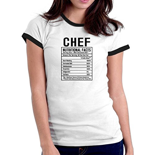 Camiseta Ringer de Mujer Chef nutritional facts
