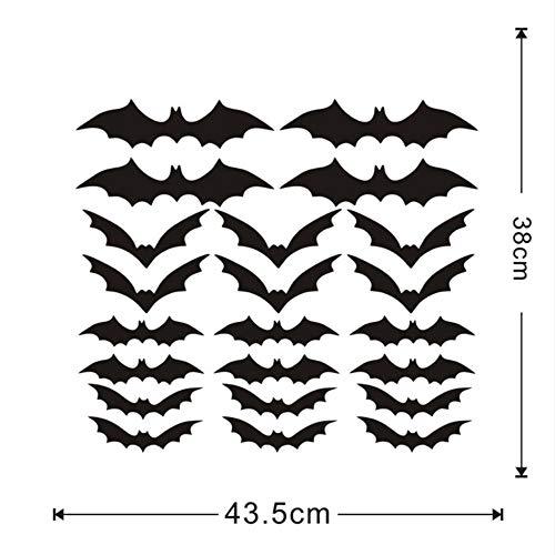 ßer Verkauf Diy Pvc Bat Wandaufkleber Halloween Dekoration Entfernbare Wandaufkleber Dekoration Zubehör ()