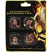 The Hunger Games Catching Fire Victors Badge Set (4 Pieces)