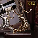 51ovEL7WowL. SL160  BEST BUY #1BEEST Creative Wine rack Iron art solid wood wine shelf decoration fashion wine bottle rack,Silver price Reviews uk