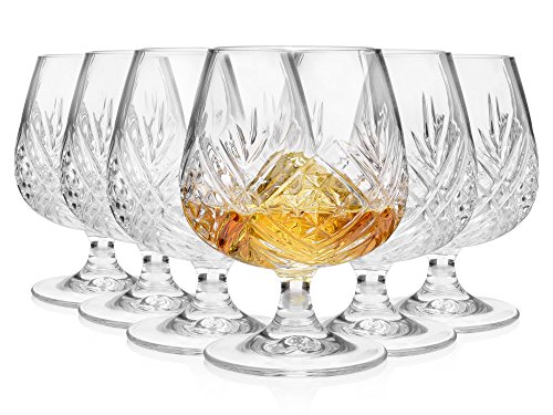 Bluespoon Brandy Gläser 6er Set | Füllmenge der Cognacgläser 300 ml | ØxH der Schwenker 6,5x12 cm | Erleben Sie den besonderen Genuss von Brandy, Cognac & Co