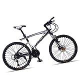 MIRC Bicicletta da Mountain Bike Ultraleggera, Bicicletta Ultraleggera Intelligente per Adulti da 26 Pollici, Bici da Downhill da 26 Pollici / 33 velocità per Studenti/Adulti,White