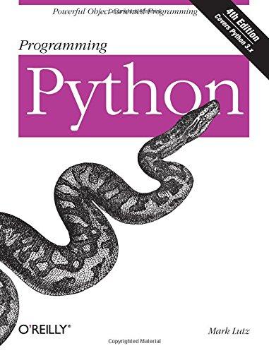 Programming Python (Python-programmierung 1.)