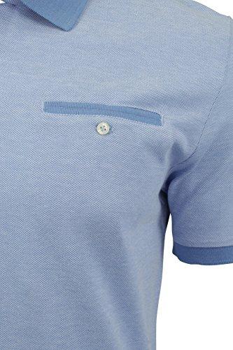 Ben Sherman Pique-Poloshirt Kornblumenblau
