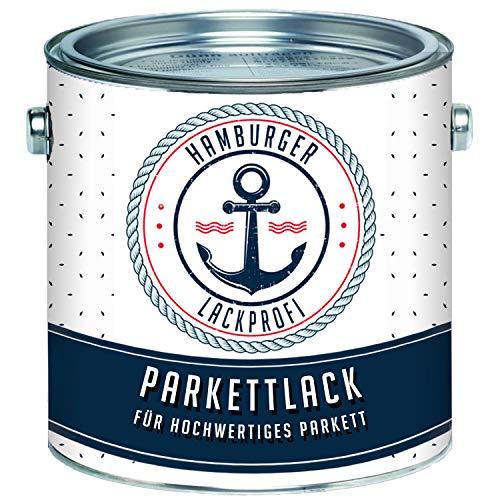 Parkettlack SEIDENMATT farblos Parkettsiegel Treppenlack Holzlack klar // Hamburger Lack-Profi (10 L)