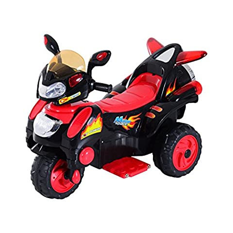HOMCOM Children Ride on Toy Car Kids Motorbike Motorcycle Electric Scooter Motor Bicycle 6V Battery Operated Toy Trike