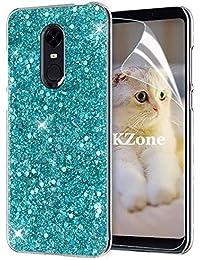 Coque Xiaomi Redmi Note 5  avec Film de Protection écran HD ,OKZone Mince  Étui en silicone souple Paillette Strass Brillante Bling Bling Glitter de… 93f8c11975f
