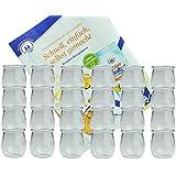 24er Set Weck Gläser 220 ml Tulpengläser incl. Diamant-Zucker Gelierzauber Rezeptheft