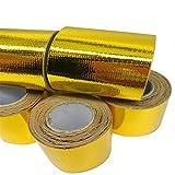 Pergamena Rate 3ruote in alluminio pellicola colla 50mm * 5MT ALTA TEMPERATURA riflettenti paracalore Wrap Tape
