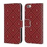 Head Case Designs Offizielle Assassin's Creed Rot Und Gold Logo Odyssee Muster Brieftasche Handyhülle aus Leder für iPhone 6 / iPhone 6s