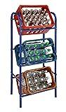 Flaschenkastenständer - Getränkeständer - Flaschenkastenregal - Kastenregal für 3 Kisten Blau