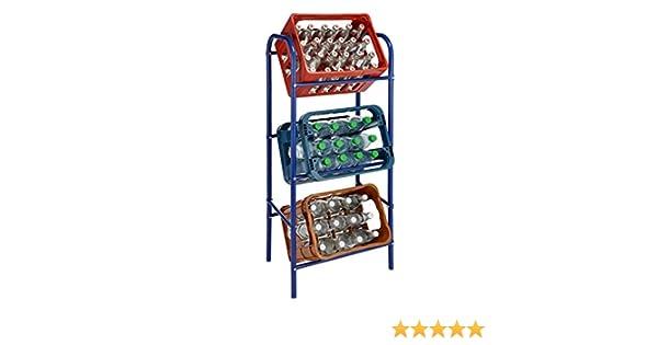 Flaschenkastenst/änder Getr/änkest/änder Kastenregal f/ür 3 Kisten Blau Flaschenkastenregal