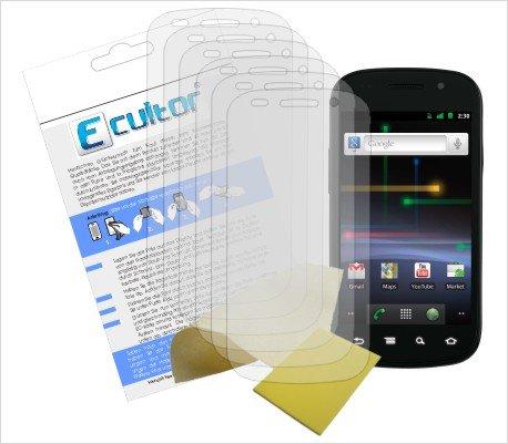 Ecultor I 6x Schutzfolie matt passend für Google Nexus S / Samsung i9023 Folie Bildschirmschutzfolie