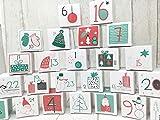 Deingastgeschenk Fröhlicher Adventskalender zum Befüllen - 24 Schachteln