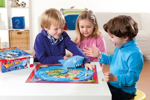 Hasbro-Spiele-33893100-Hilfe-Hai-Kinderspiel