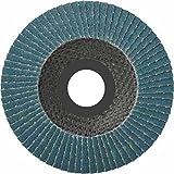 10 Stück Inox Fächerscheiben 125 mm Körnung 60 INOX Fächerschleifscheibe Schleifmopteller