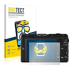 2x BROTECT Film Protection Sony Cyber-Shot DSC-HX60V Protection Ecran - Transparent, Anti-Trace