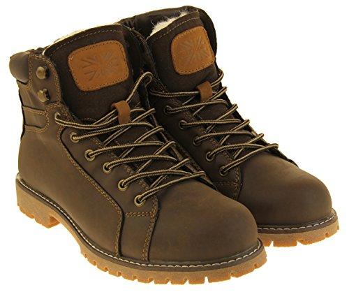 Footwear Studio Hommes Keddo Faux Cuir Chaud Hiver Cheville Chelsea Bottes