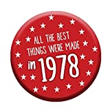 Funny 40th Birthday Badge 76mm Pin Button Funny Novelty Gift Idea Him & Her