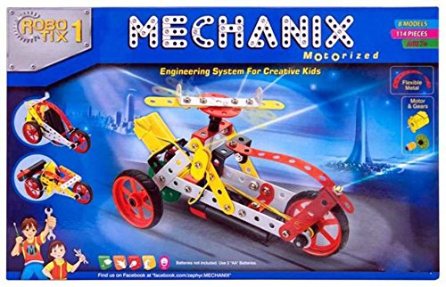 Bonkerz Mechanix Robotix 1 Extra Fun 114 Pieces Motor Skill Development Kit for Boys and Girls  available at amazon for Rs.1299