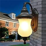 De estilo europeo, luces de jardín al aire libre Jardín de la pared lámpara de pared lámpara al aire libre impermeable balcón Villa revestimiento de pared