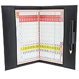 Großer Golfkartenhalter, Leder 2314 - für britische, irische und europäische Scorekarten Schwarz