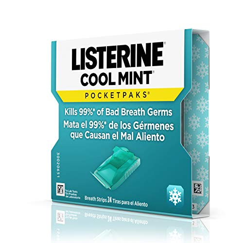 Listerine  Pocketpaks Atem Strips Cool Mint 24 Stück (12er-Pack) - 10