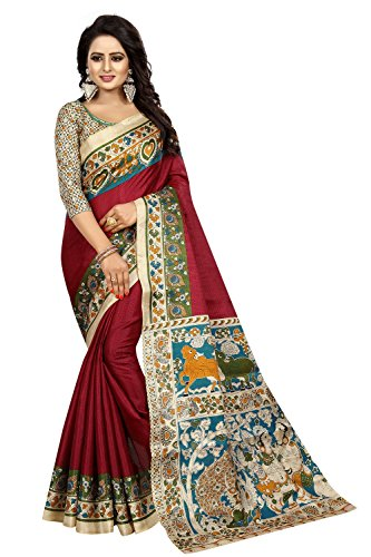FabDiamond Cotton Saree With Blouse Piece (D-FWS1750_Free Size)