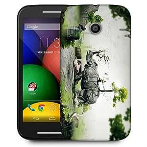 Snoogg Abstract Rhino Designer Protective Phone Back Case Cover for Motorola E2/Moto E22