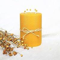 100% Reines Bienenwachskerze Größe H 13 x 9 cm Ökologische kerzen Natürlichen Honigduft 100% Handarbeit Deco