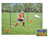 Buri Fußballtraining-Set Trainingsgerät Koordination Markierungshütchen Fussball