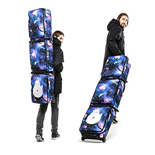 WXH Im Freien wasserdichte Skischuh-Snowboard-Tasche, Skifahren-Snowboarding-Reisegepäck, mit Rolle, für Jacke, Sturzhelm, Schutzbrille, Handschuhe und Zusatzgeräte