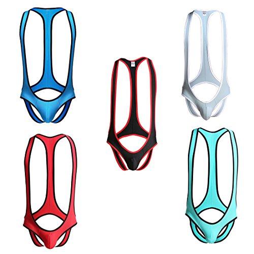 Freebily Body Bikini Homme Singlet Maillot Shorts de Bain Ouvert Fesse Nu  Bodysuit Thong Combinaison Maillot 5d152cc6818