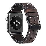 Apple Watch Armband Uhrenarmband 42mm 38mm iStrap Grobe Textur Ersatz Lederarmband Sport für Apple Watch Band iwatch Series 1 Series 2 Series 3