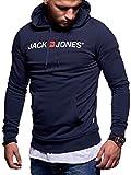 JACK & JONES Herren Hoodie Kapuzenpullover Sweatshirt Pullover Sweater (M, Color 3)