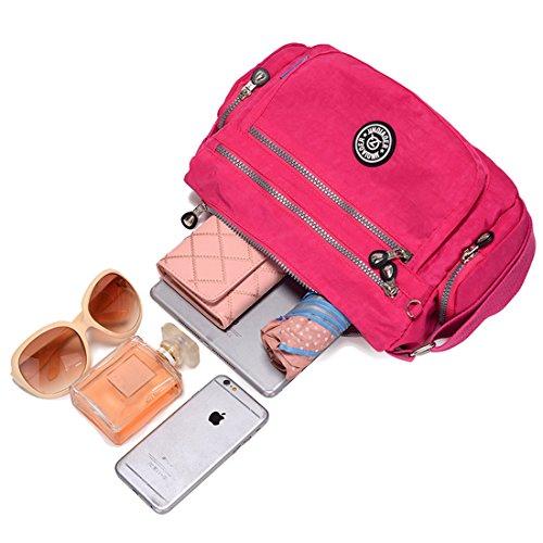 Supa Moden–Borsa a tracolla a tracolla leggero utile Daily PAC Large Handle borsa, donna, Charm Mush