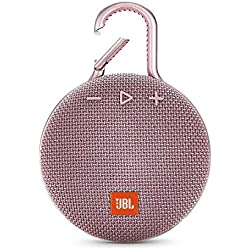 JBL Clip 3 - Enceinte Bluetooth Portable avec Mousqueton - Étanchéité IPX7 - Autonomie 10hrs - Qualité Audio JBL - Bluetooth, Rose