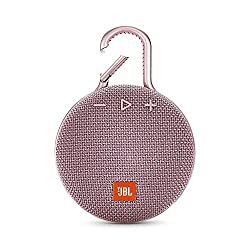 JBL Clip 3 Bluetooth Lautsprecher in Rosa (Wasserdichte, tragbare Musikbox mit praktischem Karabiner - Bis zu 10 Stunden kabelloses Musik Streaming)