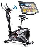 Hop-Sport Ergometer HS-090H Heimtrainer Bluetooth 4.0 Smartphone Steuerung Schwungmasse 13 kg Grafit