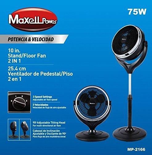 Maxell Power MP2166 - Ventilador de Sobre Mesa y de Pie, 75W,...
