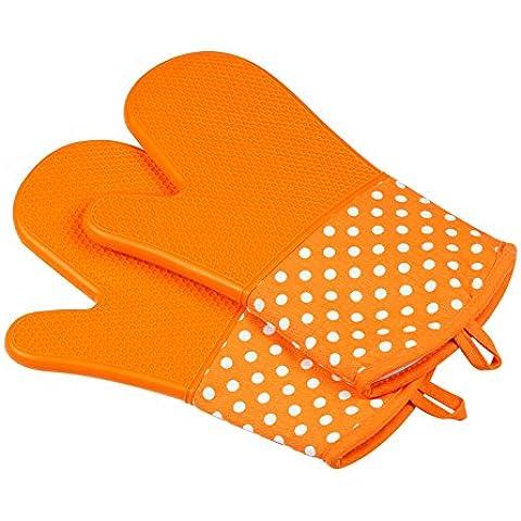 Leesentec doppio strato refrattari guanti da forno, silicone, 2x Pack, guanti da forno, guanti da forno, guanti da forno