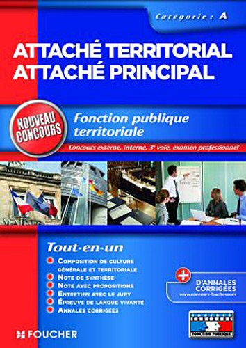 Attaché territorial Attaché principal Nouveau concours catégorie A