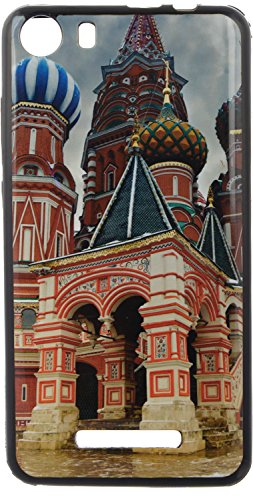 iCandy UV Printed Matte Finish Soft Back cover for Micromax Canvas Spark 2 Q334 - MOSCOW  available at amazon for Rs.119