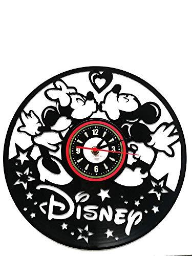 SSGZDYDM Wanduhr mit Micky Maus-Anime-Motiv, Vinyl-Platte, kreatives Kinderzimmer-Dekoration, Nicht tickend, einzigartige Geschenkidee für Halloween, Weihnachten, 30,5 cm, Schwarz (Schwarzes Vinyl Halloween-motive)
