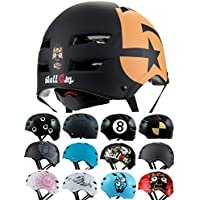 Skullcap® Casco BMX - Casco Skate - Casco Bici, Casco Bici Niños, Negro Mate, Talla M, No. 5