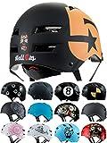 Skullcap® BMX Helm ☢ Skaterhelm ☢ Fahrradhelm ☢, Herren | Damen | Jungs & Kinderhelm, schwarz matt & glänzend (No. 5, S (51 - 54 cm))
