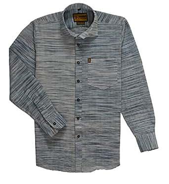 Punekar Cotton Khadi Formal Khadi Shirt for Men (Style 10, 38)