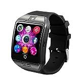 Bluetooth Pluggable Card Sport Smart Armbanduhren Smartwatch mit Kamera für Android IOS iPhone Samsung LG Handys Schwarz